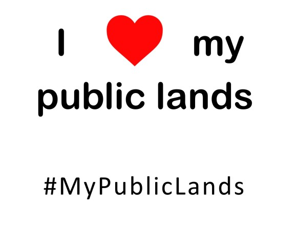 I HEART public lands sign